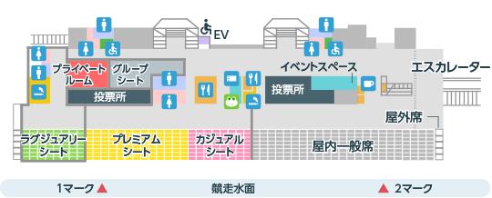 ボートレース尼崎:3F 有料席/一般席