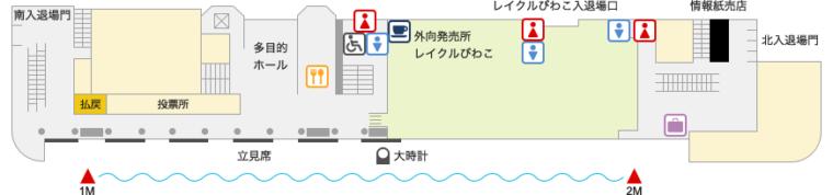 ボートレースびわこ(びわこ競艇場)施設ガイド:1F