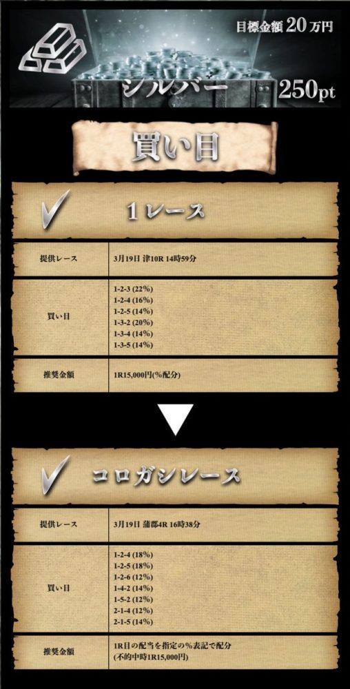 3月19日【シルバー】:公開情報