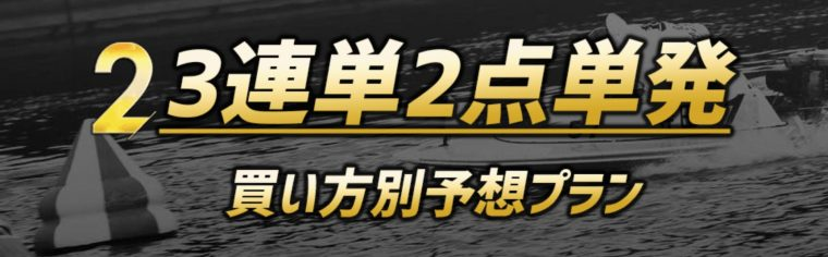 競艇予想NOVA(競艇予想ノヴァ)の有料プラン【3連単2点単発】
