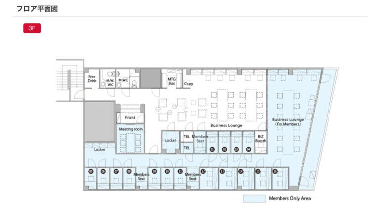 「東京都新宿区新宿4-3-15 3F」のフロア平面図