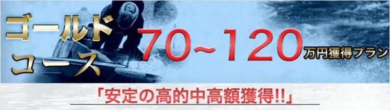 ゴールドコース:70万円〜120万円獲得プラン